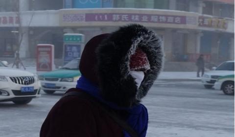 """呼伦贝尔最低零下46.6度 出门即变""""白发魔女"""""""