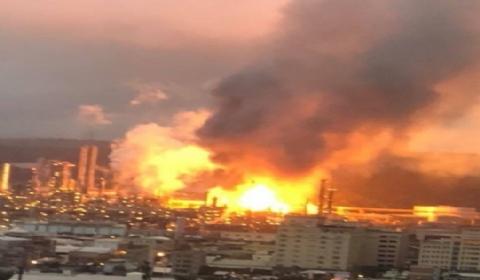 台湾炼油厂爆炸火光冲天 5公里内住户被震醒
